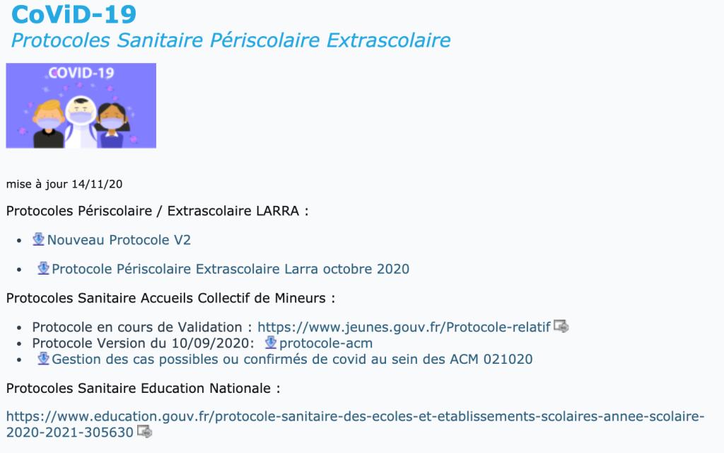 Capture du site internet de la Mairie de Larra